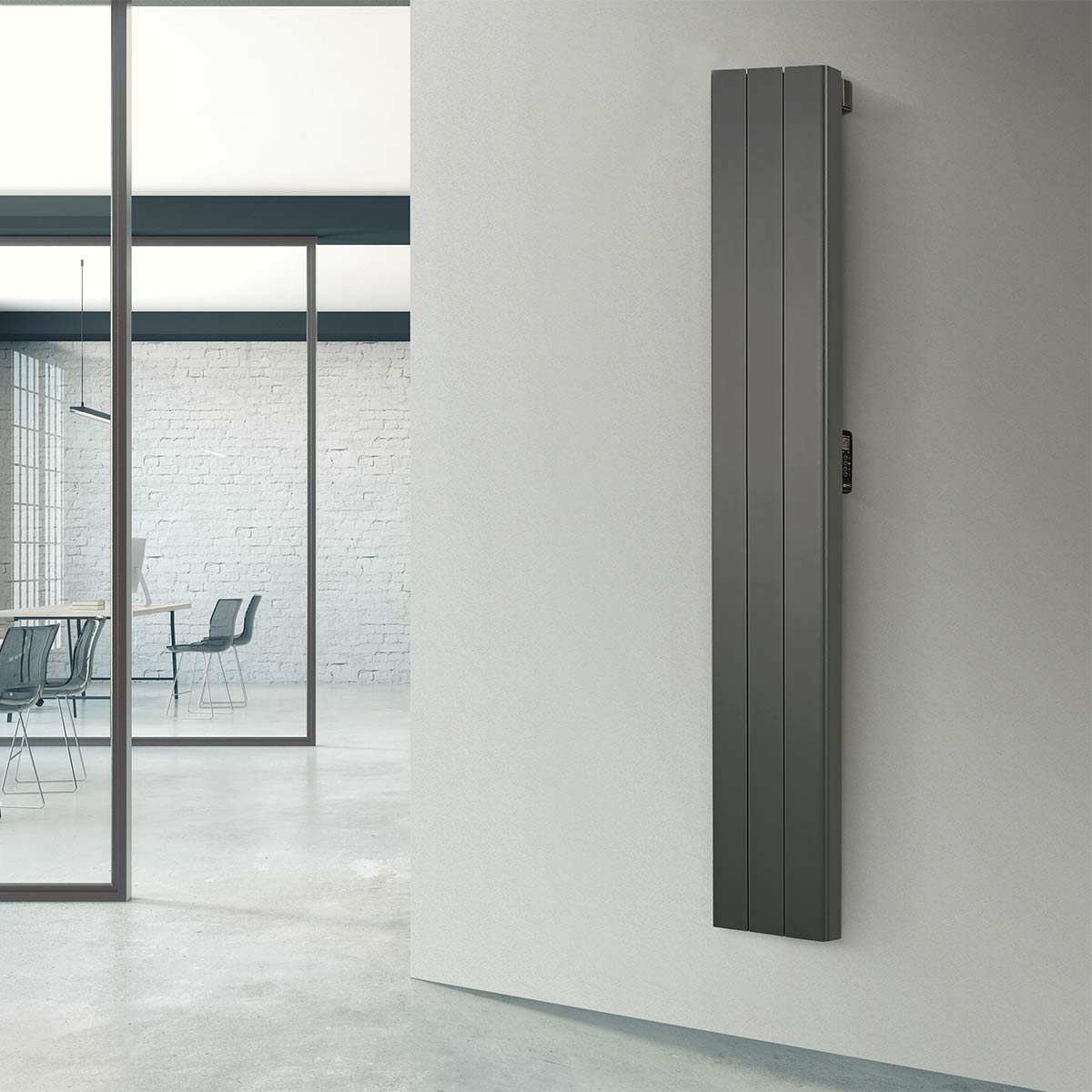 Rointe Palaos vertical radiators come in white or black for narrow spaces