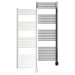 Rointe Elba Oval electric towel rail 750W in white or chrome