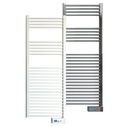 Rointe Giza Digital electric towel rail 500W in white or chrome