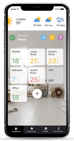 Rointe Connect - manage rooms UK